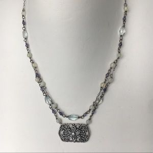 Sterling and crystal necklace